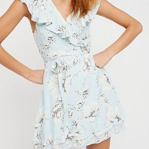 Free People French Quarter Mini Wrap Dress